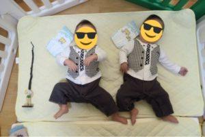 双子生後11ヶ月