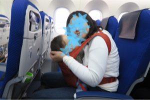 ANAの飛行機内にて