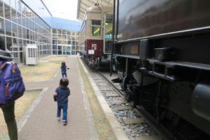 東武グループ 東武博物館 庭の電車