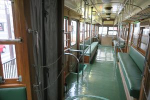 東武グループ 東武博物館 屋外の電車の中