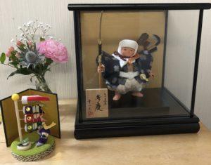 五月人形 弁慶 お花