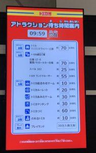 トミカ博 in YOKOHAMA 10時時点の待ち時間