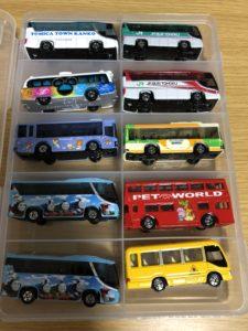 セリア SIKIRI10 トミカ収納 バスのトミカシリーズ