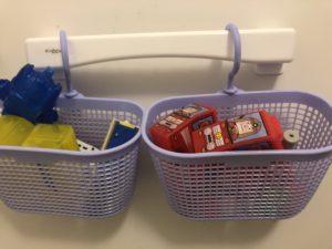 我が家のお風呂のおもちゃの収納方法