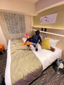山梨県 甲府駅前の「城のホテル」 お部屋 ファミリータイプ