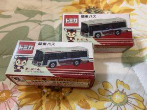 関東バスのオリジナルトミカのパッケージ