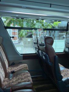 無料シャトルバスのはとバスで自衛隊の大規模接種センターに行く