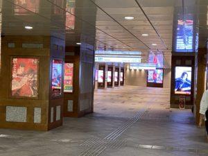 銀座線の三越前駅を降りたところで日本橋×刀剣乱舞コラボ
